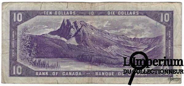 CANADA - 10 Dollars 1954 - Beattie-Coyne - DEVIL'S FACE