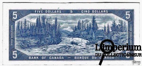 CANADA - 5 Dollars 1954 - Beattie-Coyne - DEVIL'S FACE