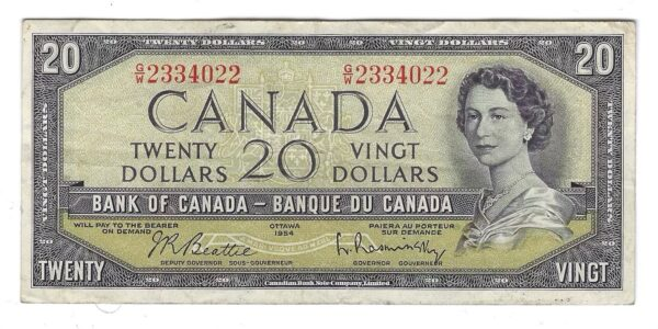 CANADA - BILLET 20 Dollars 1954