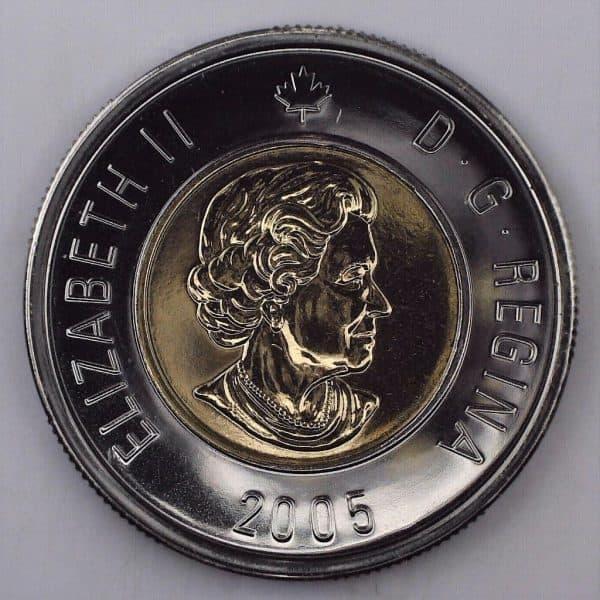 2005 Canada 2 Dollars NBU Avers