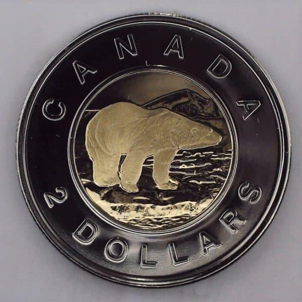 2007 Canada 2 Dollars Logo de MRC NBU