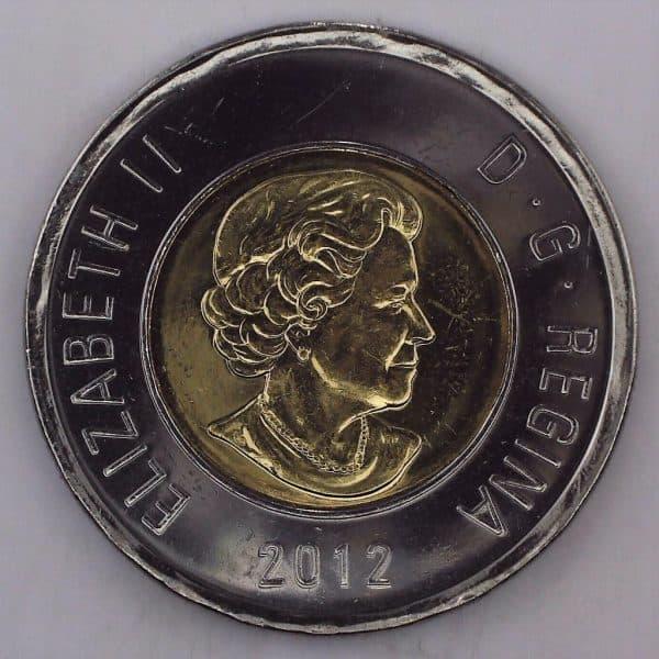 2012 Canada 2 Dollars Nouvelle Génération NBU